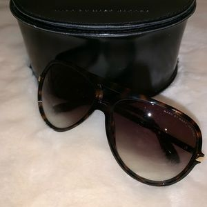 Marc Jacobs Brown Havana Rounded Sunglasses